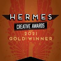 """Banner reading """"Hermes Creative Awards – 2021 Gold Winner"""""""
