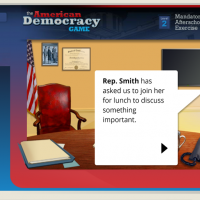 Screenshot of the American Democracy Game