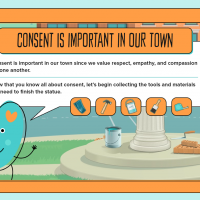 """Screenshot of the Safe Secure Sites website, with the headline: """"Consent is Important in Our Town"""""""