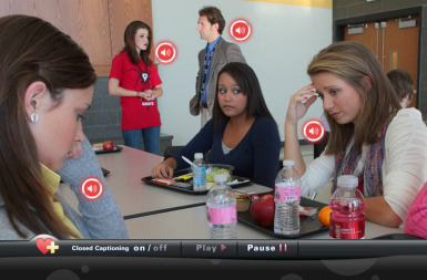 """Screenshot of the """"This Has to Stop"""" Bullying Prevention project on a smart tablet"""