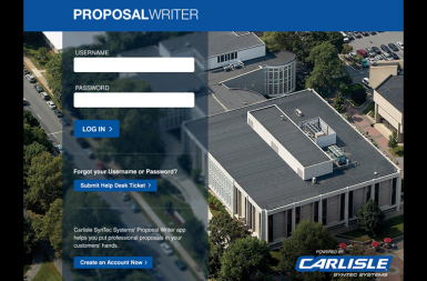 Screenshot of the Proposal Writer App project on a smart tablet