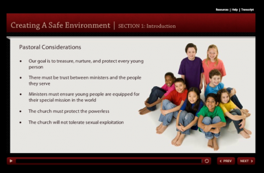 Screenshot of the Youth Protection project on a smart tablet