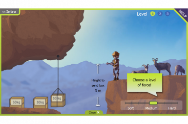 Screenshot of the Ovie's Engineering Challenge project on a smart tablet