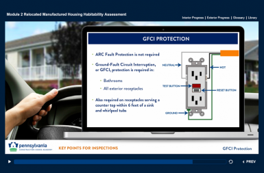 Screenshot of the Housing Inspector Training project on a smart tablet