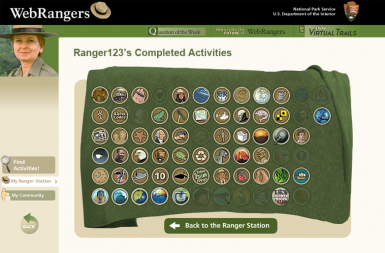 Screenshot of the Web Rangers project on a smart tablet
