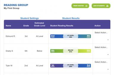 Screenshot of the Literacy Tracker Tool project on a smart tablet