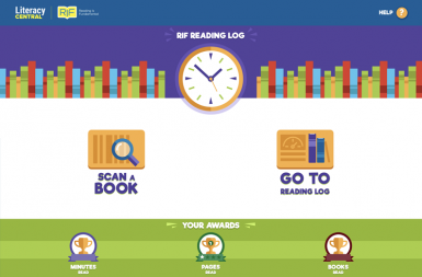 Screenshot of the Mobile App Encourages Kids to Read project on a smart tablet