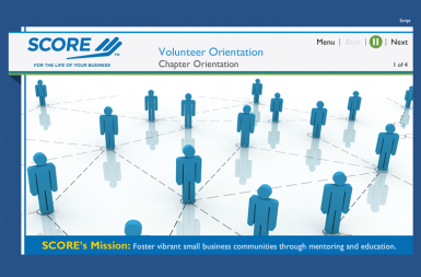 Screenshot of the Volunteer Training project on a smart tablet