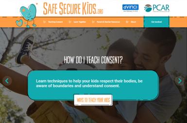 Screenshot of the SafeSecureKids.org project on a smart tablet