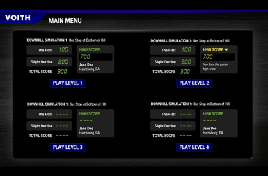 Screenshot of the Hybrid Bus Transmission Simulator project on a smart tablet