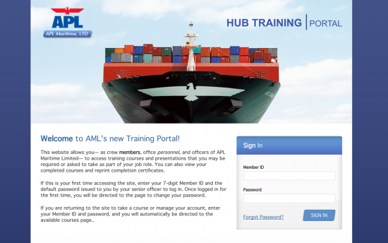 Screenshot of the Training Portal and LMS project on a laptop computer