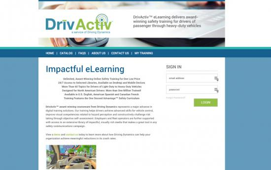 Screenshot of the Delivering Online Driver Safety Training with ecoLearn®  project on a laptop computer