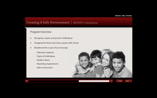 Screenshot of the Youth Protection project on a laptop computer