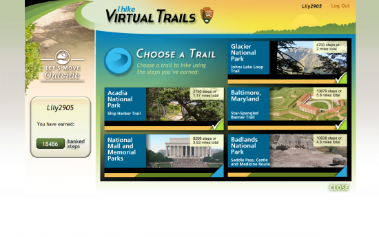 Screenshot of the iHike project on a laptop computer