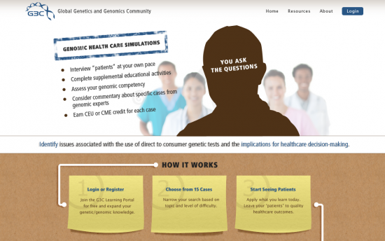 Screenshot of the Interactive Unfolding Case Studies project on a laptop computer