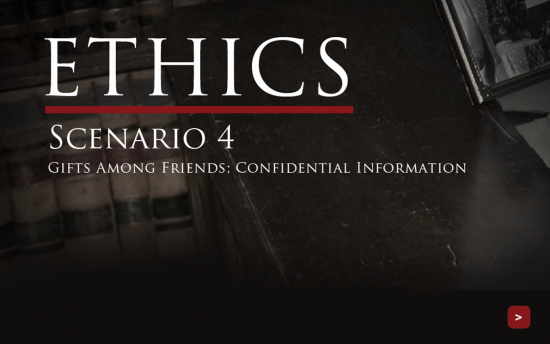 Screenshot of the Ethics project on a laptop computer