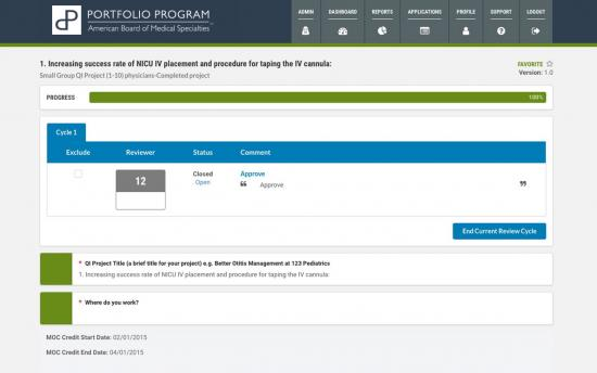 Screenshot of the Automated Certification Management project on a laptop computer