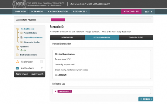 Screenshot of the Decision Skills Self Assessment project on a laptop computer