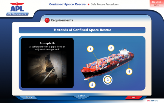 Screenshot of the Confined Space Rescue project on a laptop computer