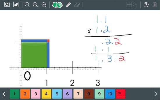 Screenshot of the Bringing Math Instruction Online project on a laptop computer