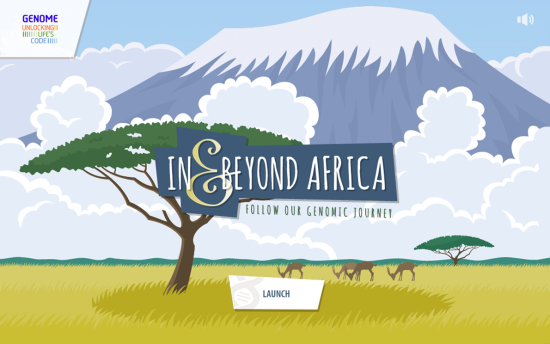 Screenshot of the In and Beyond Africa project on a laptop computer