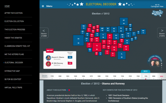 Screenshot of the Electoral Decoder project on a laptop computer