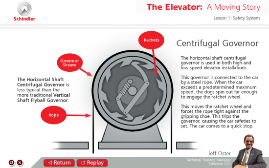 Screenshot of the Elevator: A Moving Story project on a laptop computer