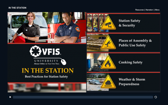 Screenshot of the Best Practices for Station Safety project on a laptop computer