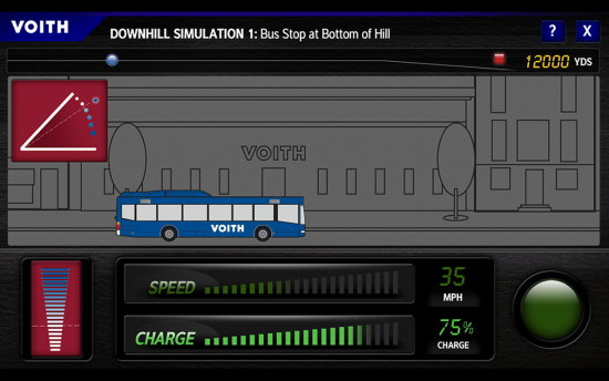 Screenshot of the Hybrid Bus Transmission Simulator project on a laptop computer