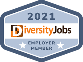 "Badge reading ""2021 DiversityJobs Employer Member"""